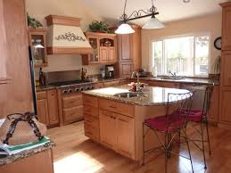 Kitchens With Islands Kitchen Natural Polished Maple Wood Kitchen Island With Curved