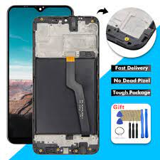 For Samsung Galaxy A10 2019 A105 A105F A105M LCD Display Touch Screen  Digitizer Glass Assembly with Frame for Samsung A10 LCD|Mobile Phone LCD  Screens