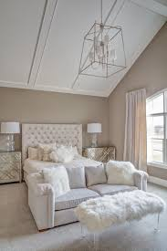 traditional master bedroom grey. Master Bedroom Vaulted Ceiling Ideas Transitional Bed On Grey Wall Color With Traditional