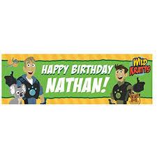 happy birthday customized banners personalized wild kratts birthday adventure banner