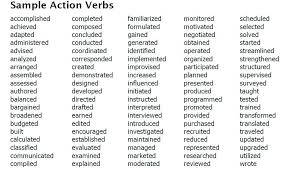 list of action words for resume best resume action verbs verbs resumes  action list com list