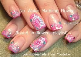 Robin Moses Nail Art: No water marble Flower Nail Art, Marble ...