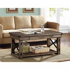 coffee table weathered beachwood round storage tables grey wood square for rustic accent shabby chic larg