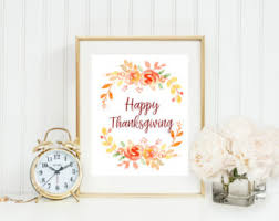 Happy Thanksgiving Wall Print/Printable, Fall Wall art, Simple Fall Colors  &Design,
