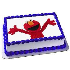 Seseme Street Elmo Cake Edible 14 Sheet Image Topper Birthday Party