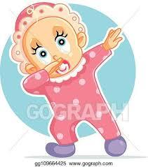 funny baby dabbing vector cartoon