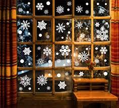 Edoton Fensterbilder Schneeflocken Glocke Weihnachten Dekoration Aufkleber Für Vitrine Fensterdeko Set Selbstklebend Abnehmbare Pvc Aufkleber Winter