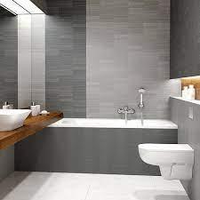 modern decor silver mosaic bathroom
