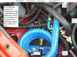 convert vw diesel to run on straight vegetable oil the first shot is straight no diagram then the same shot a diagram of flow drawn on it