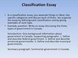 how to write essays 11 classification essay•