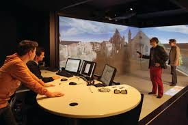 Что такое виртуальная реальность свойства классификация  Альтернатива для тех кто не хочет испортить прическу изображения в данном случае транслируются не в шлем а на стены помещения часто представляющие