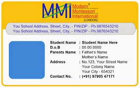 School Id Template Download Template Galleries Montessory Play School Id Card Templates