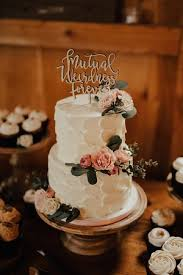 2 Tier Simple Sunflower Wedding Cake Picture Of Flavor Cupcakery