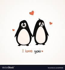 cute penguins in love. Interesting Love Cute Penguins Vector Image And Penguins In Love E