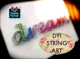 How To Do String Art Diy String Art Youtube