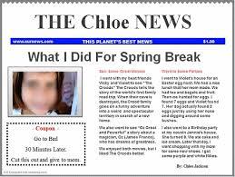 Classroom Newspaper Template Google Classroom Newspaper Template Blue K 5 Computer Lab