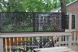 black lattice privacy screen on back deck