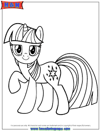 Small Picture Unicorn Pony Twilight Sparkle Coloring Page H M Coloring Pages