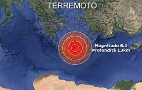 TERREMOTO - Violenta SCOSSA a Creta , Magnitudo 5.8 Una vittima, 9 feriti e  molti danni. Le prime IMMAGINI VIDEO « 3B Meteo