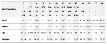 Speedo Swim Parka Youth Size Chart 18 Size Chart Speedo Girls Size Chart Bedowntowndaytona Com