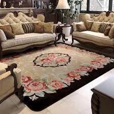 carpet for living room. 150x200cm pastoral big carpets for living room carved coffee table rugs and home bedroom area carpet