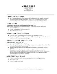 Accounting Objective Resume Objective Accounting Specialist Resume