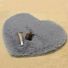 40x30cm heart shaped carpet shower floor bathroom bath