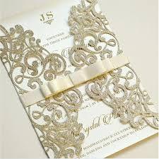 Elegant Invitation Cards Elegant Glitter Gate Fold Laser Cut Invitations Cards Invitation Quinceanera Boda Invitation Silver Gold Rose Gold
