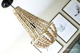 wooden bead chandelier wood bead chandelier pottery barn bella wood bead chandelier for