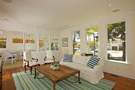coastal cottage living room beach style with striped rug internal window striped rug