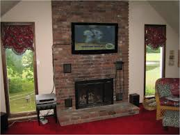 surprising how to hide tv wires over brick fireplace at mount tv over stone fireplace r8n