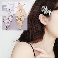 ヘアクリップ 星 スター 髪留め 髪飾り レディース ヘアアクセサリー