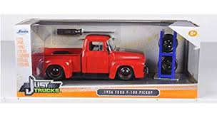 Amazon.com: 1956 Ford F-100 Red Pickup Truck