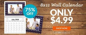 8x11 Calendar Holiday Gift Idea Custom 8x11 Wall Calendar Only 4 99