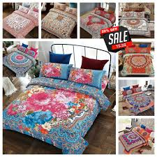 details about duvet cover with pillow cases bohemian quilt cover bedding sets double king size