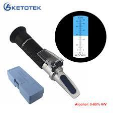 Portable <b>Alcohol Detector</b> Refractometer <b>0 80</b>% V/V <b>Liquor Alcohol</b> ...