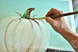 how to paint a pumpkin canvas art skills not required shading the