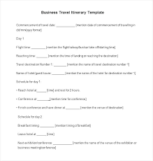Road Trip Template Business Trip Itinerary Template Sidered Info