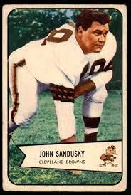 Amazon.com: 1954 Bowman #28 John Sandusky Very Good Browns: Collectibles &  Fine Art