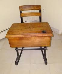 photo 1 of 7 antique school desk with inkwell value 1 antique school desk with inkwell