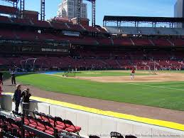 Gcs Ballpark Seating Chart Busch Stadium View From Dugout Box 138 Vivid Seats