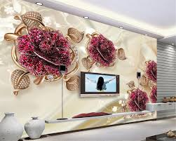 Beibehang 3d Behang Europese High End Luxe Luxe Sieraden Bloem