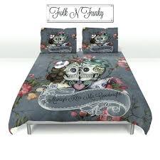 skulls comforter sets i would love this for our bed skull bedding sugar skulls duvet cover skulls comforter sets sugar