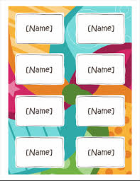 How To Print Avery Name Badges Name Badges Bright Design 8 Per Page Works With Avery