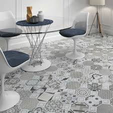 Image of: Patterned Floor Tiles Modern