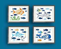 Bathroom Fish Decor Fish Bathroom Pillowfort Shower Curtain Decor Bath Rules Brush