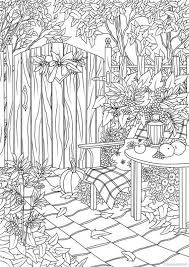 Select from 35450 printable crafts of cartoons, nature, animals, bible and many more. Autumn Garden Printable Adult Coloring Page From Favoreads Etsy