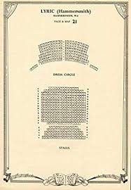 Lyric Theatre Seating Chart London Amazon Com Lyric Theatre Hammersmith London Vintage