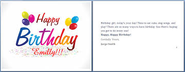 Happy Birthday Card Printable Template Ms Word Happy Birthday Cards Word Templates Ready Made