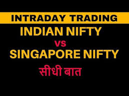 Sgx Nifty Intraday Chart Intraday Trading Indian Nifty Vs Singapore Nifty In